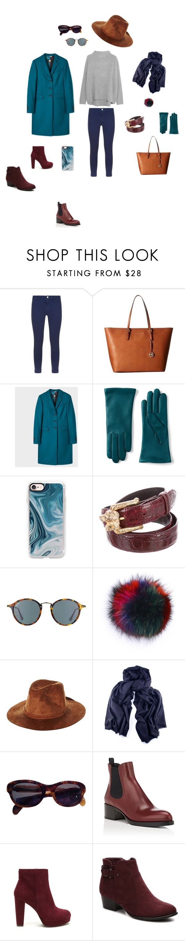 """""""Лук №3 (серый свитер)"""" by madlily86 on Polyvore featuring мода, Vince, J Brand, MICHAEL Michael Kors, Paul Smith, Lands' End, Casetify, Ray-Ban, Bobbl и Brixton"""