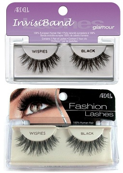 Ardell Lashes - Wispies (Black).  Helen's tip: use duo lash glue in dark. These are the lashes I use everyday. They're great and look more natural than others because the lashes are cross-crossed like our own lashes.