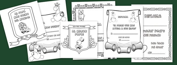 Os dejamos estos preciosos diplomas para colorear y regalar a papa el día del padre, que mejor regalo que una manualidad y un diploma hecho por los más peques de la casa.