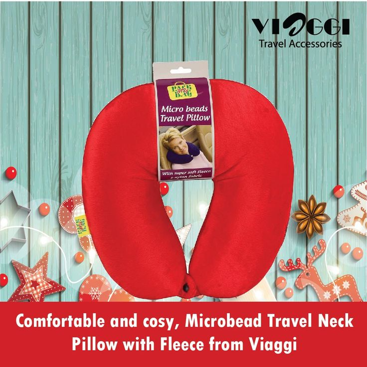 "Microbead Travel Neck and Shoulder Pillow Relaxer from Viaggi Travel World.This """"U"""" Shaped pillow gently cradles your neck while supporting your head for lasting comfort. Designed to help relieve pressure, prevent stiffness and alleviate soreness while traveling. Buy on www.viaggitravelworld.com"