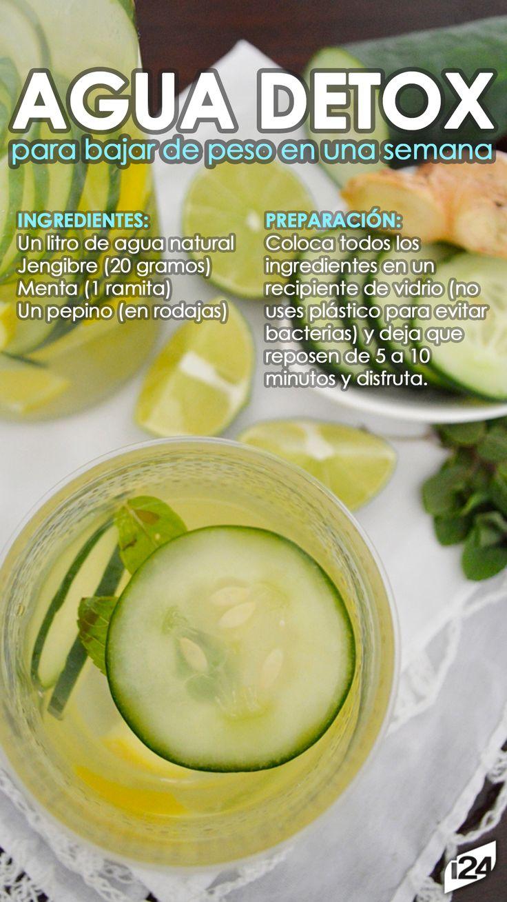 Es muy fácil de hacer #Agua #Detox #Receta #Light