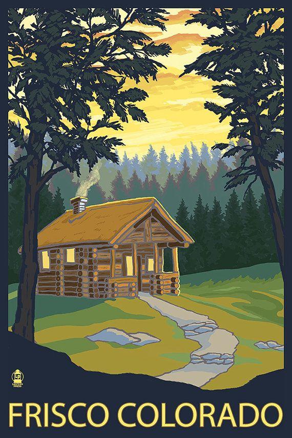 Frisco colorado cabin in the woods art prints for Cabins in frisco colorado