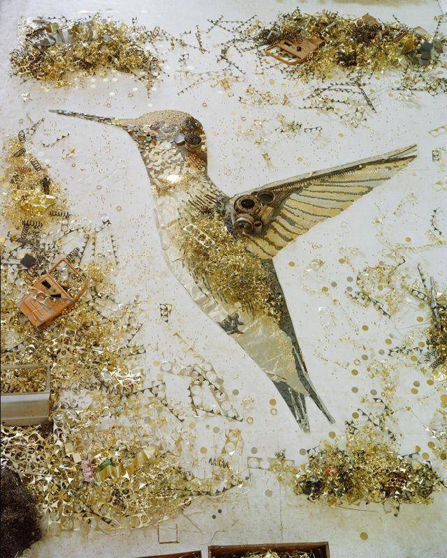 Scrap metal creatures by Vik Muniz. From Remedios the Beauty