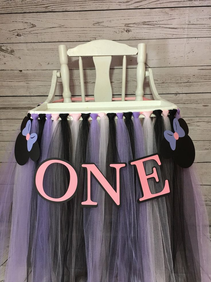 High Chair tutu - Minnie Mouse HighChair Tutu - Highchair Skirt - Minnie Mouse high chair skirt - Minnie Mouse First Birthday by AvaryMaeInspirations on Etsy
