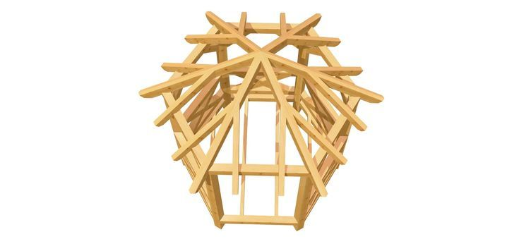 Holz Pavillon selber bauen 6Eck Pavillon selber bauen