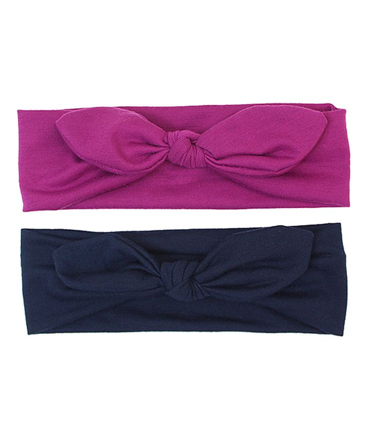 Look at this #zulilyfind! Charlotte Rose Couture Navy & Purple Knot Headband Set by Charlotte Rose Couture #zulilyfinds