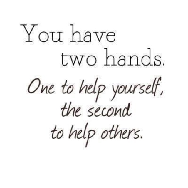 To be helpful to other people. To be thoughtful and see the opportunity to help Someone else.