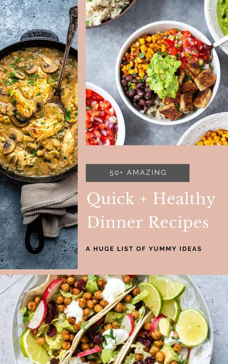 50 Quick And Healthy Dinner Recipes Roundup In 2020 Healthy