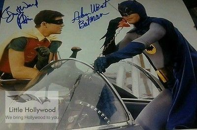 BATMAN-AND-ROBIN-1966-8-10-AUTOGRAPHED-RP-LUSTRE-PHOTO-FROM-ORIGINAL