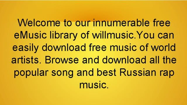 Play online or download best Russian rap music free only on WillMusic. We have a large collection of popular and new Russian rap tracks and clips of world artists for you to download completely free of charge. Hear only the best only at WillMusic.