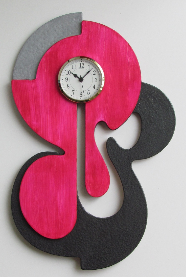 Unique Contemporary Abstract Sculpture Wall Art Clock