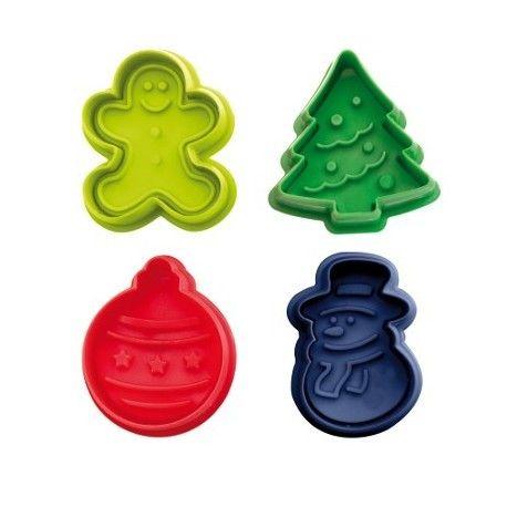 Set de 4 moldes para Galletas Navidad - El Dulce de Pau  #moldesparagalletas #reposterianavidad #galletasnavidad #cortapastas