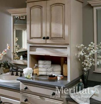 Wall Vanity Tambour Storage   Masterpiece® Accessories   Merillat®  Cabinetry. Handy Cabinet Keeps