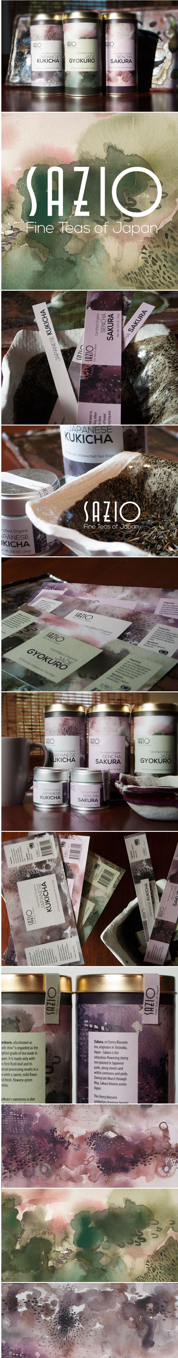 Flux Appeal | Sazio Japan Tea Packaging Design