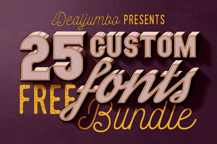No time for download all these amazing fonts separately? No problem at all. We have this FREE bundle for you with 25 cool customs fonts