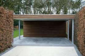 Afbeeldingsresultaat voor carport hout aanbouw