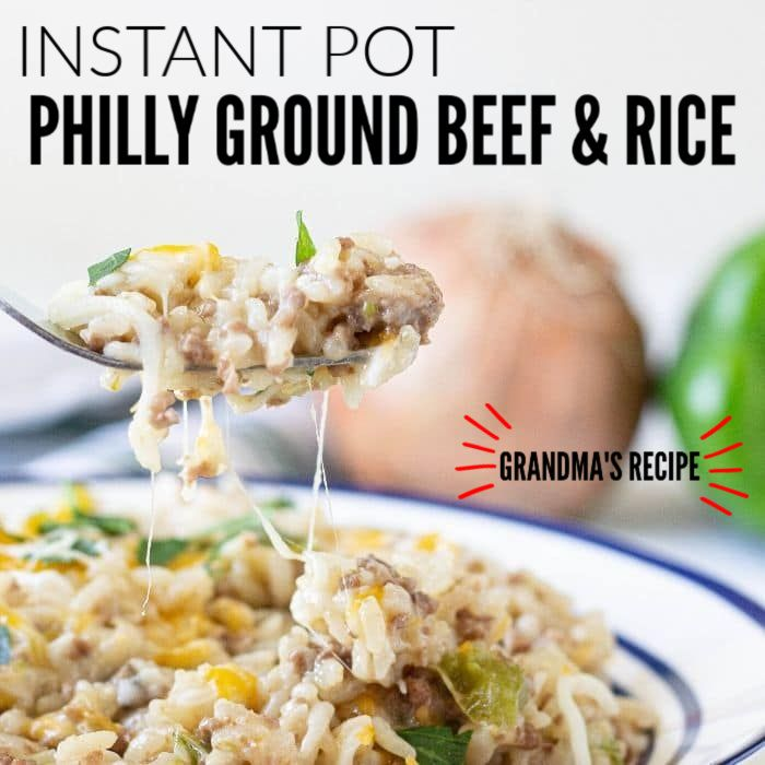 Instant Pot Philly Ground Beef And Rice In 2020 Beef And Rice Ground Beef Rice Healthy Ground Beef