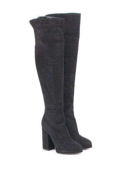Giampaolo Viozzi - Stivali - Donna - Stivale in camoscio con suola in cuoio…