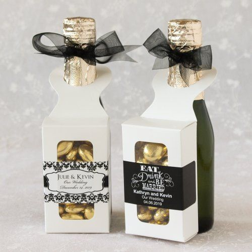 Hanger Favor Boxes with Personalized Labels