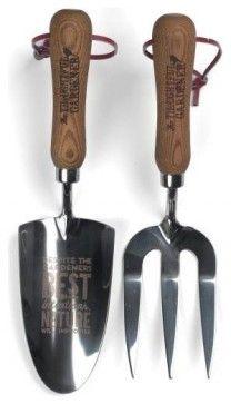 Thoughtful Gardener Trowel Fork Set contemporary gardening tools