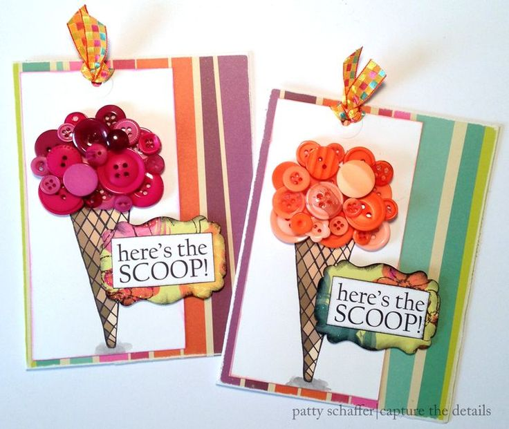 Ice cream cone party invitation design by Patty Schaffer for Blumenthal Lansing Co.