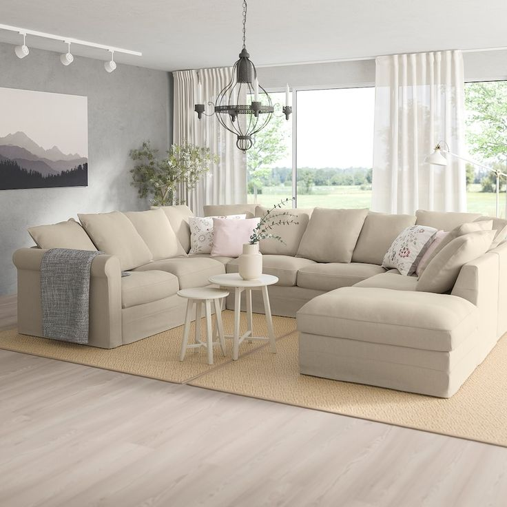 GrÖnlid With Open End Sporda Natural U Shaped Sofa 6