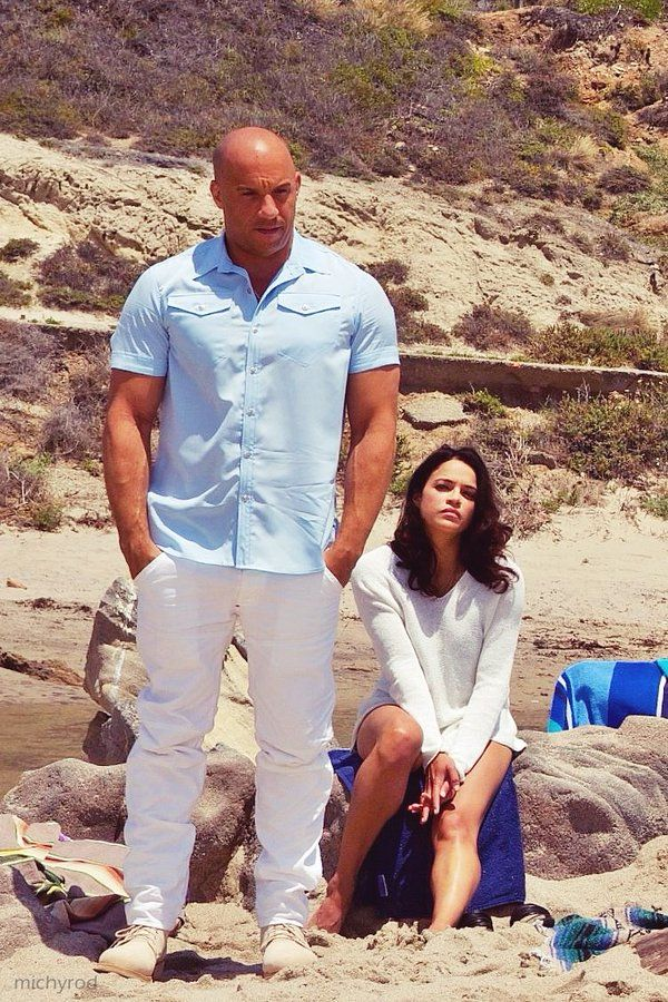 Vin Diesel and Michelle Rodriguez (em)