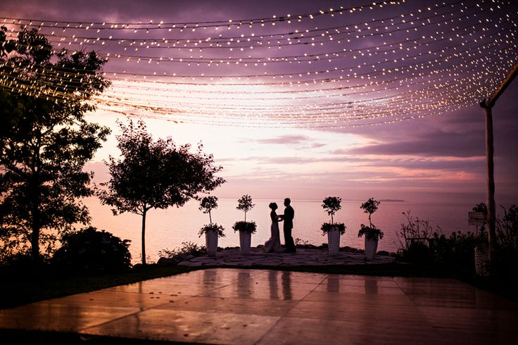 Wedding - Sunset - string lighting