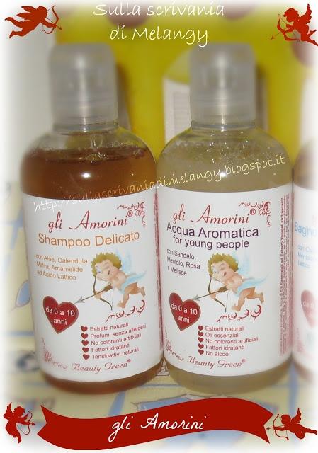 """Shampoo delicato e Acqua Aromatica """"Gli Amorini"""" by UNIEST"""