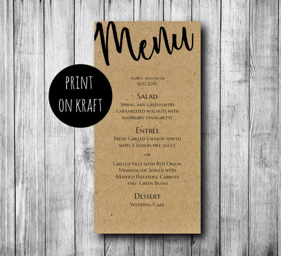 41 best Wedding menu images on Pinterest Menu templates, Place - wedding menu template
