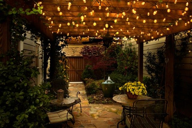led outdoor string light for restaurant - Google Search Backyard Haven Pinterest Patio ...