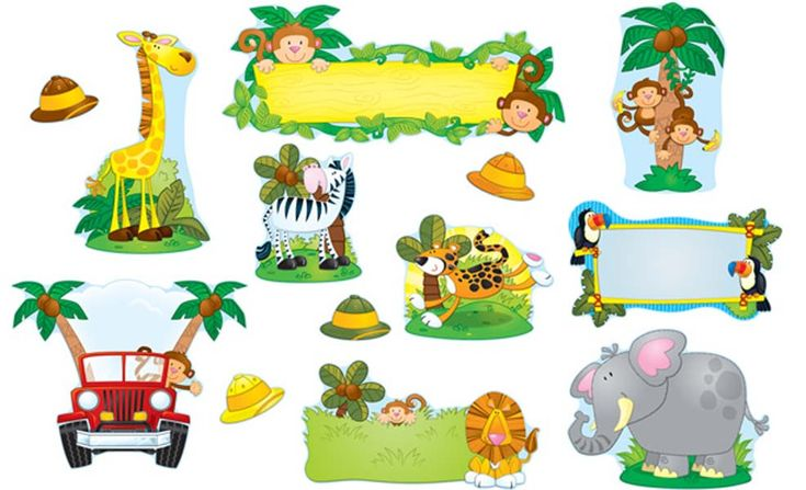 Zebra Classroom Ideas ~ Jungle jeep clipart safari bulletin board cakes