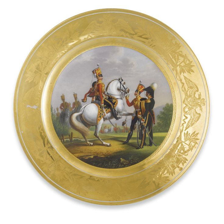 c1829 A Russian Porcelain Plate from a Military Service Imperial Porcelain Manufactory St.  sc 1 st  Pinterest & The 801 best Russian neoclassical images on Pinterest | Contemporary ...