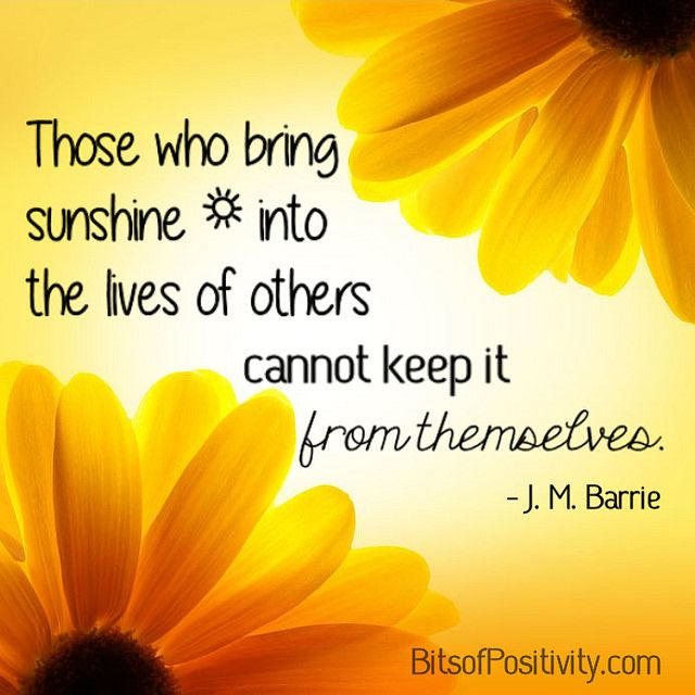 """""""Those who bring sunshine into the lives of others cannot keep it from themselves."""" J. M. Barrie (Post contains link to Hunger Awareness Month posts along with word art freebie without watermark.)"""