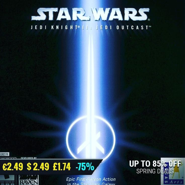 May the 4th #gamedeals Star Wars: Jedi Knight II: Jedi Outcast -75% Off $2.49 2.24 1.74 http://ift.tt/2phtElQ #atari #pcgaming #pcgamer #gaming #siladeals