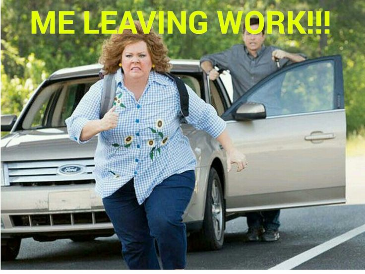 Leaving work on a Friday