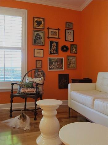 Zesty orange wall (Photo from SWANKfest) I wish I was brave enough to do an orange wall