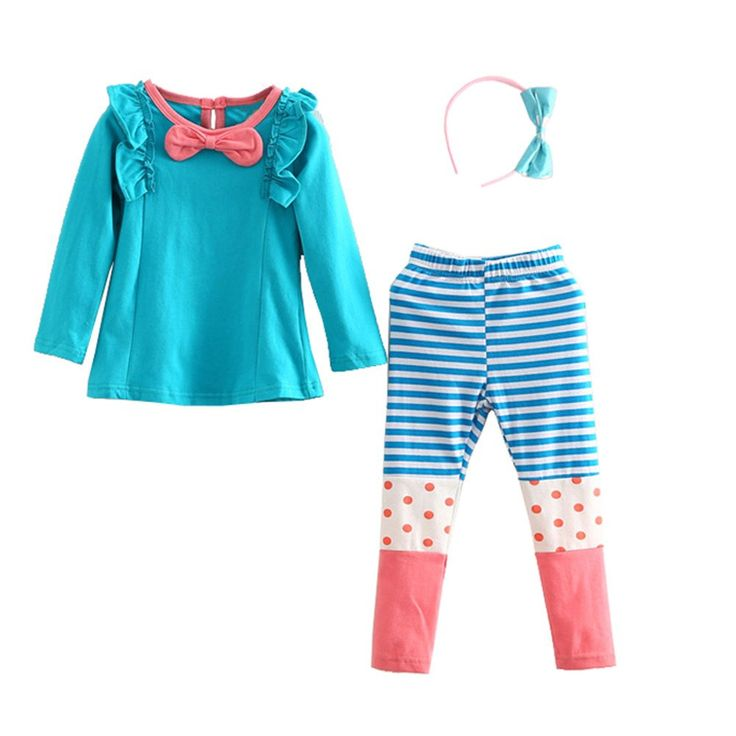 """Mud Kingdom Girls' Spring Fall 3PC Sets T-shirts and Leggings With Hair Band 6-7T Green. 3-Piece Set. Great Gift For Girl. For Spring & Autumn. Please Read """"Size Specification"""" In """"Product Description"""" To Make Sure The Size You Choose Fits As Expected. Mud Kingdom, A Reliable & Professional Manufacturer of Children's Clothing, Founded by Several Young People in 2012!."""