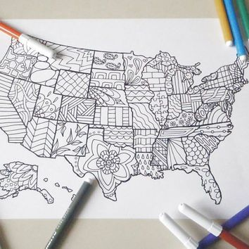 Best United States Map Ideas On Pinterest Usa Maps Map Of - Sketch drawing us with states map