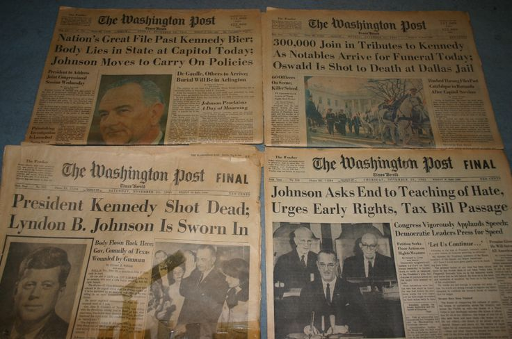 Gary Ackerman's photo: This is the Washington Post newspaper on the death of John F. Kennedy I've had sense I was twelve. I taped it up with plastic wrap, and must have gotten tape on the front cover. The rest of the paper seems to be in pretty good shape. This was fifty years ago.