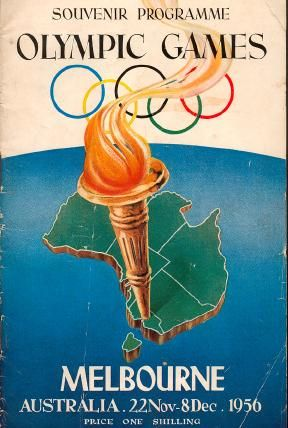Souvenir Program covering Olympic Games Australia 1956