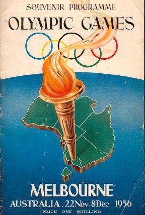 Souvenir Program covering Olympic Games Australia 1956