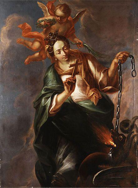 Willmann / Apoteoza sv. Markéty (Marghareta)