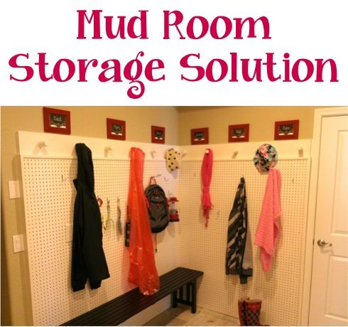 Home Decor Tip: Mud Room Storage Solution! #mudrooms #thefrugalgirls