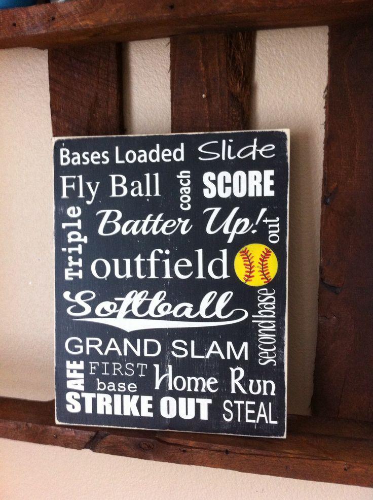 Softball Sign