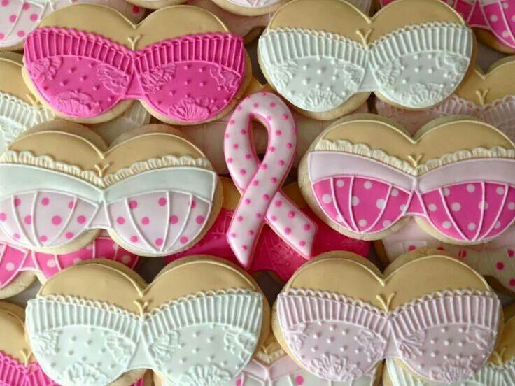 Cute Cookies Breast Cancer Awareness Decorative Cookies