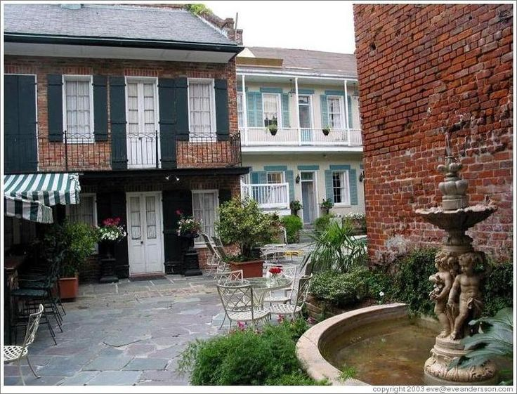 21 best images about french quarter new orleans courtyards for New orleans style house plans courtyard