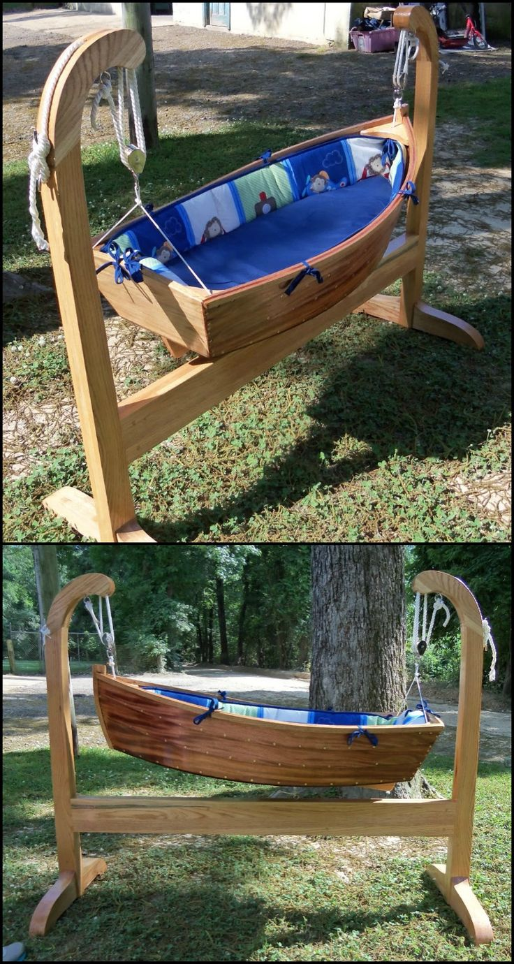 Are you expecting a new addition to the family anytime soon?  Now this is the perfect opportunity to use your creativity and woodworking skills...and make a unique DIY baby boat cradle for your little one:)  It's a fun project where you can learn a lot while making it.  Do you know anyone who would love this idea too?