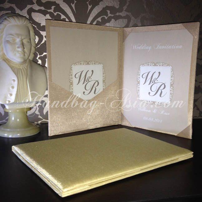 Luxury Silk Folio For Wedding Invitation Cards