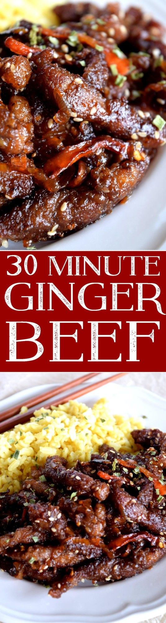 30-minute-ginger-beef...switch brown sugar for keto friendly sweeter!